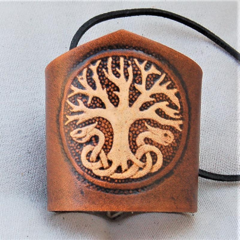 Celtic Leather Craft Wristband Yggdrasil Wristband